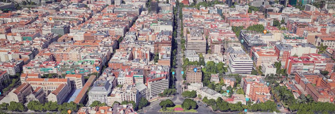 Calle de Ortega y Gasset dirección oeste - Tipos de calle en Madrid - Lujo